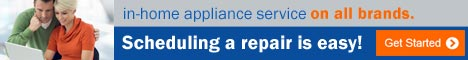 Scheduling appliance repair is easy! Get Started